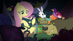 Fluttershy in her Nightmare Night hiding place S5E21