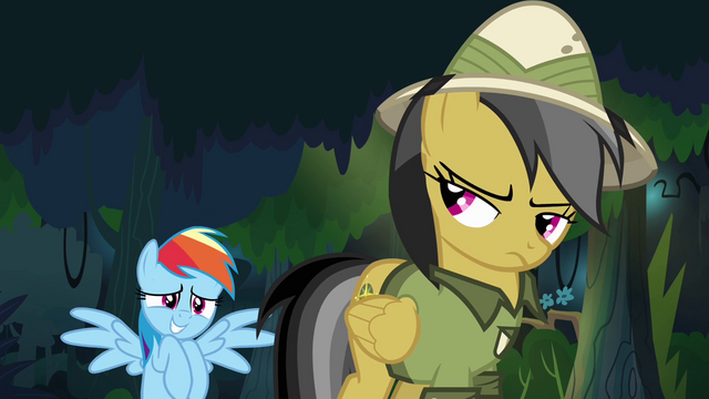 File:Rainbow Dash nervous around Daring Do S4E04.png