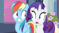Rarity & Rainbow Dash shocked! S2E25