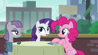 "Rarity acting ""You know what, Pinkie Pie?"" S6E3"