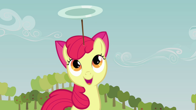 File:Apple Bloom continuing to balance the plate S3E08.png