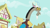 Discord glaring at Tree Hugger S5E7