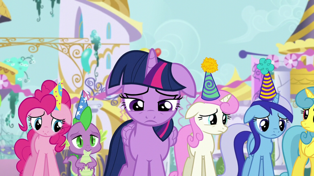 File:Twilight and friends feel sorry for Moon Dancer S5E12.png