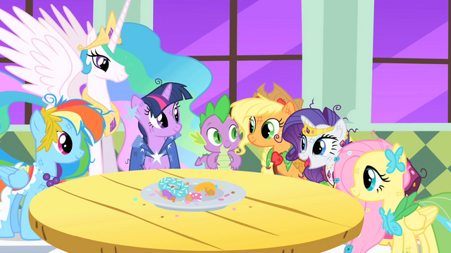 File:Main ponies and Princess Celestia S01E26.png