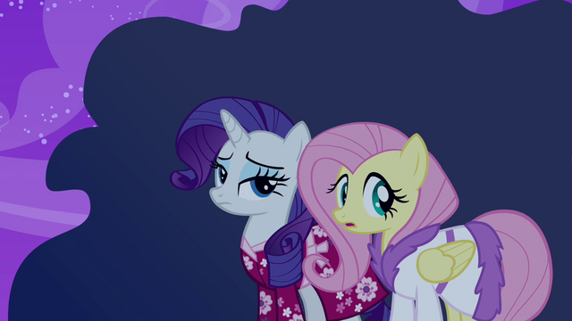 File:Rarity and Fluttershy don't know what the ruckus is about S2E16.png