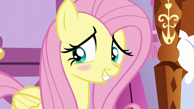 File:Fluttershy blushing with embarrassment S6E11.png