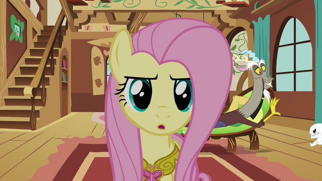 File:Fluttershy 'Being kind to him' S3E10.png