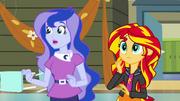 Sunset Shimmer and Luna shocked EG