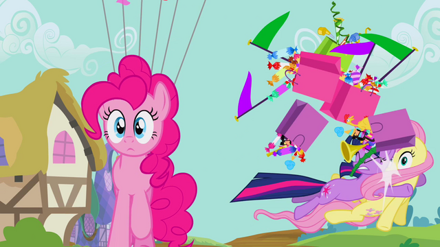 File:Twilight accidentally hitting Fluttershy S2E20.png