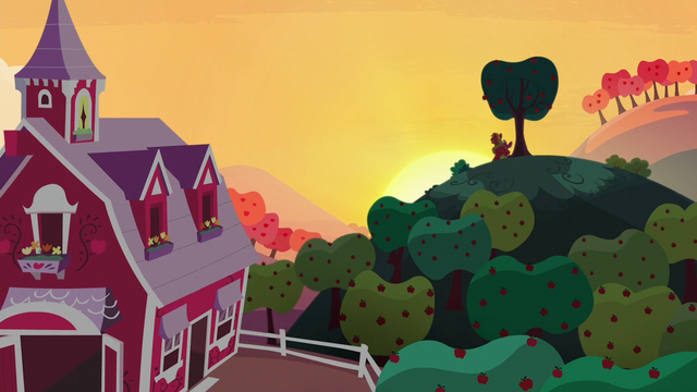 File:Big Mac and Apple Bloom laughing while watching the sunset S5E17.png
