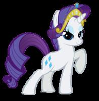 File:FANMADE Rarity wearing tiara.png