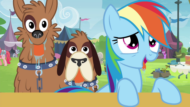 File:Rainbow Dash and orthros drooling S4E22.png