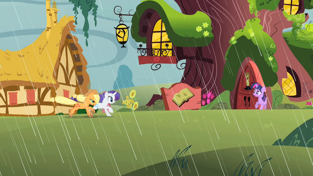 File:Applejack and Rarity gallop to the library S1E08.png