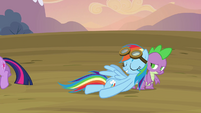 Rainbow Dash feeling relieved S2E22