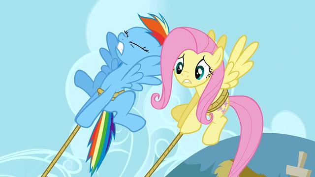 File:Rainbow Dash saving the cake S2E24.png