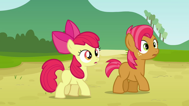 File:Apple Bloom and Babs hears Applejack S3E08.png