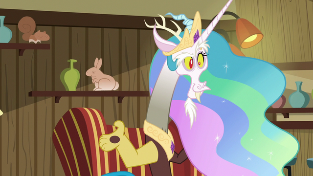 File:Discord imitating Princess Celestia S6E17.png
