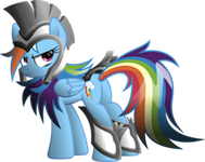 File:FANMADE Rainbow Dash Warrior.png