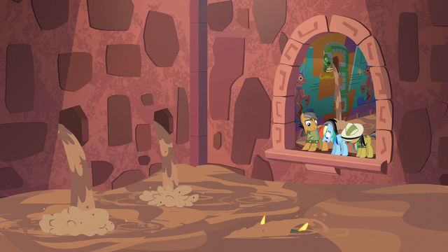 File:Rainbow, Quibble, and Daring trapped with the Cipactli S6E13.png