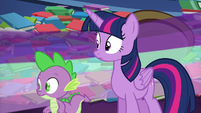Starlight speeds past Twilight and Spike S6E21