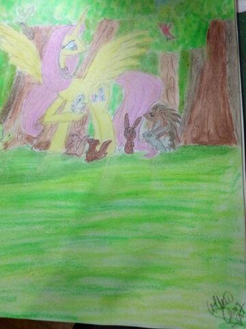 File:FANMADE Alicorn Fluttershy.jpg