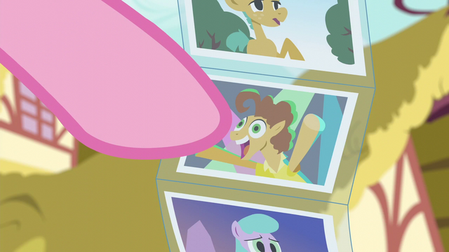 File:Pinkie points at photo of Cheese Sandwich S6E11.png