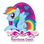 Rainbow Dash sprite from hubworld