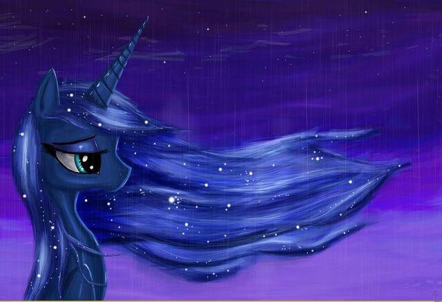 File:FANMADE Princess Luna in rain.jpg