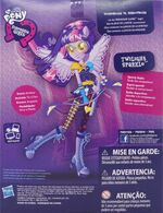 Friendship Games Sporty Style Twilight Sparkle doll back of packaging