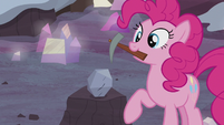 Pinkie Pie picks up her pickax S5E20