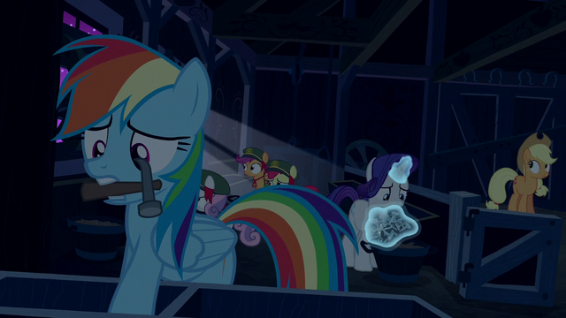 File:Rainbow, AJ, and Rarity secure the barn S6E15.png