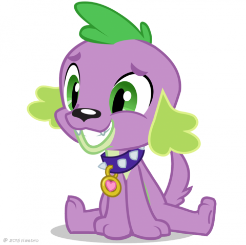 File:Equestria Girls Spike the Dog artwork.png