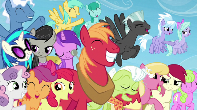 File:Several ponies smiling and happy S5E26.png