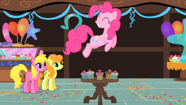 File:Pinkie Pie jumps over cupcakes S1E22.png