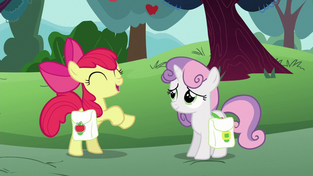 "File:Apple Bloom ""I'd rather build the fastest cart"" S6E14.png"