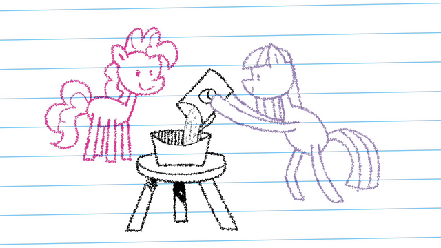 File:Drawing of Pinkie looking at Maud Pie making rock candy S4E18.png
