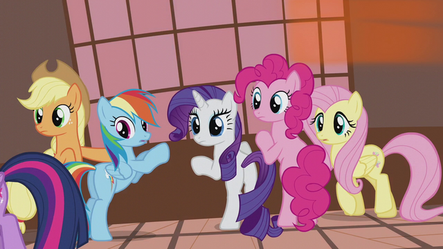 File:Twilight's friends looking at her S5E9.png