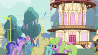 View of Ponyville Crowd S04E16