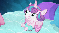Flurry Heart looking up at Pinkie Pie BFHHS5