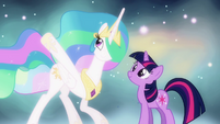 "Celestia singing ""your new life has begun"" S03E13"