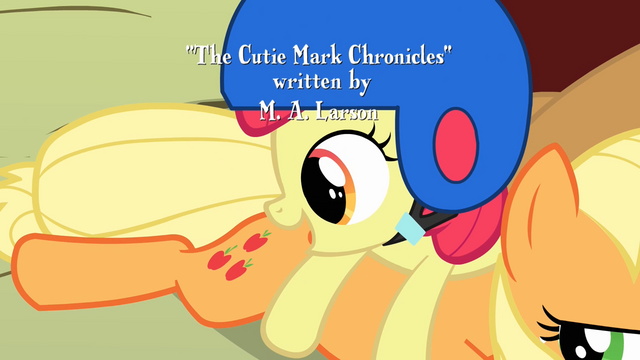 File:Apple Bloom looks at Applejack's cutie mark S1E23.png