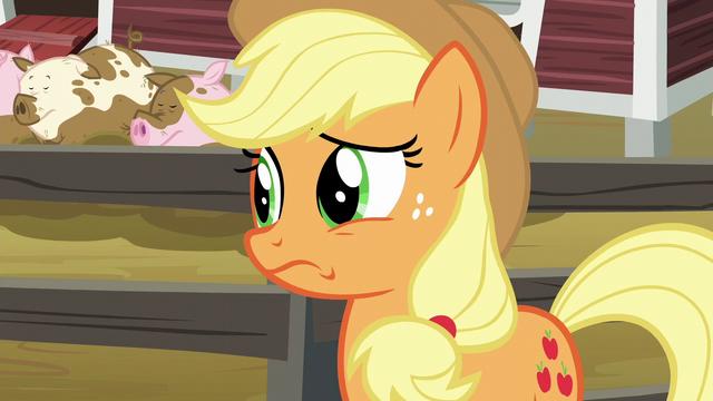 File:Applejack still considerably nervous S6E10.png