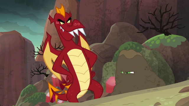 File:Spike glares at Garble with dirt on him S6E5.png