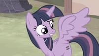 Twilight asking if she can live with her old cutie mark S5E2