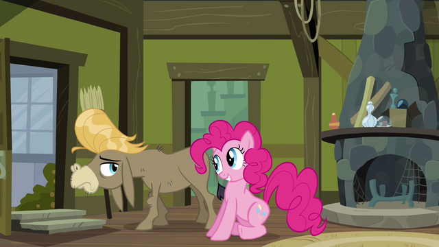 "File:Pinkie Pie and Cranky ""see how good I am at it?"" S02E18.png"