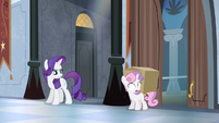 Rarity confronting Sweetie Belle S4E19