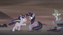 Starlight points at Twilight Sparkle S5E26