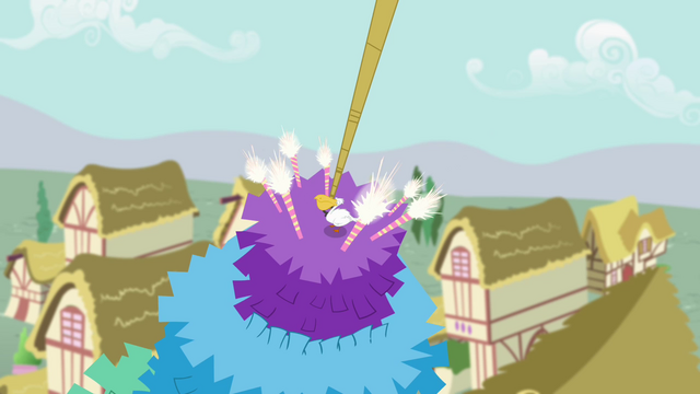 File:Bird lands on top of the pinata S4E12.png