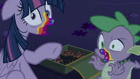 Twilight and Spike turned into zombies S6E15