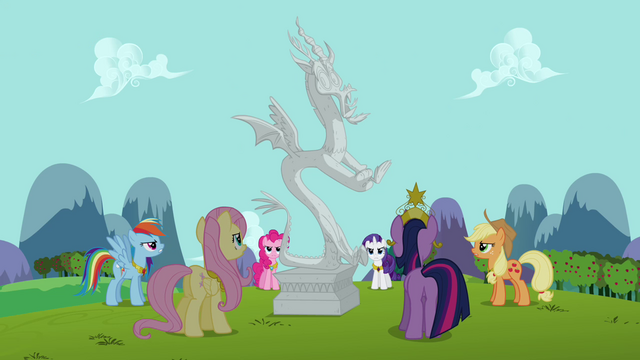 File:Twilight and friends prepare to release Discord S03E10.png